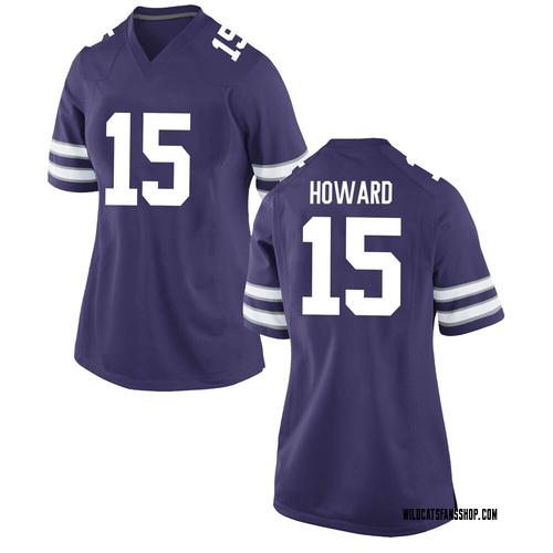 Women's Nike Will Howard Kansas State Wildcats Game Purple Football College Jersey