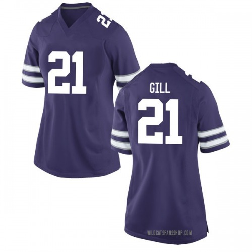Women's Nike Wykeen Gill Kansas State Wildcats Game Purple Football College Jersey