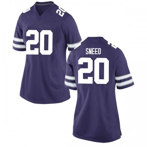 Women's Nike Xavier Sneed Kansas State Wildcats Game Purple Football College Jersey
