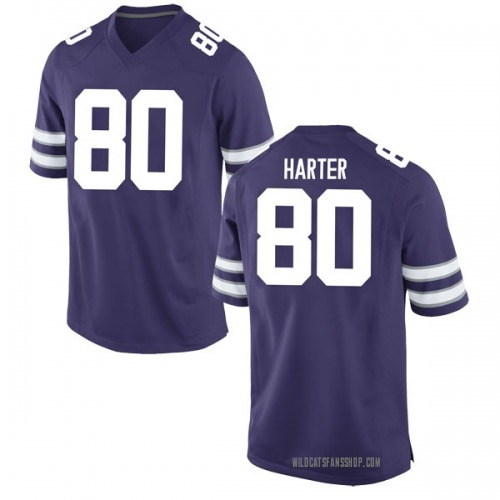 Youth Nike Adam Harter Kansas State Wildcats Game Purple Football College Jersey