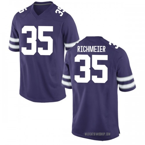 Youth Nike Blake Richmeier Kansas State Wildcats Game Purple Football College Jersey