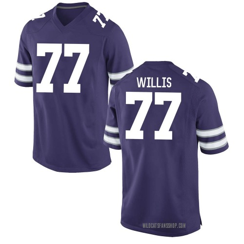 Youth Nike Carver Willis Kansas State Wildcats Game Purple Football College Jersey