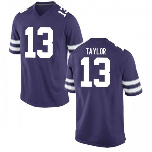 Youth Nike Chabastin Taylor Kansas State Wildcats Game Purple Football College Jersey