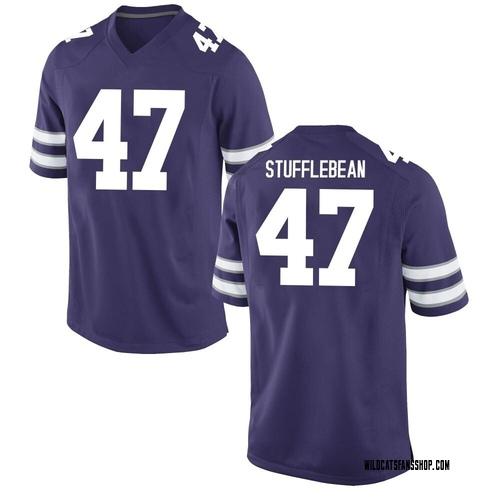 Youth Nike Cody Stufflebean Kansas State Wildcats Game Purple Football College Jersey