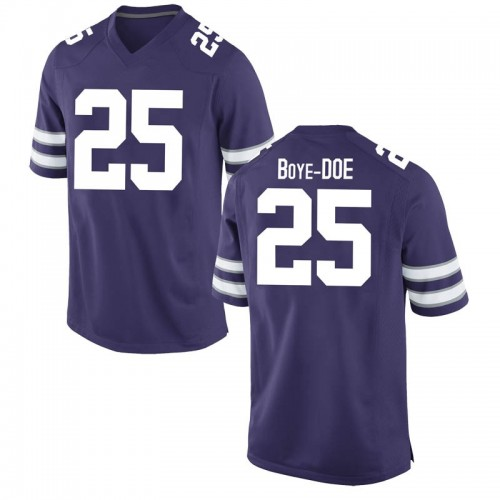 Youth Nike Ekow Boye-Doe Kansas State Wildcats Game Purple Football College Jersey