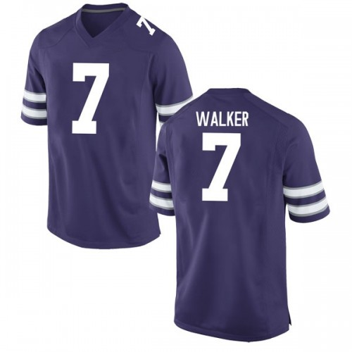 Youth Nike Eli Walker Kansas State Wildcats Game Purple Football College Jersey