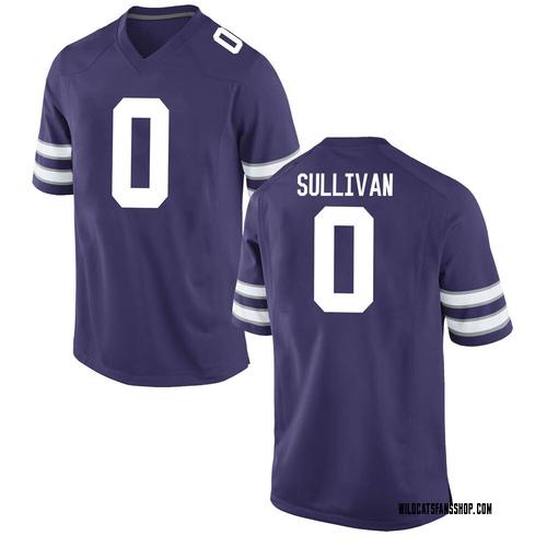 Youth Nike Elijah Sullivan Kansas State Wildcats Game Purple Football College Jersey