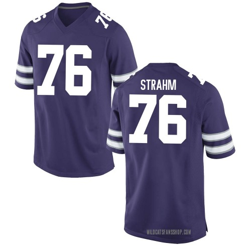 Youth Nike Elliott Strahm Kansas State Wildcats Game Purple Football College Jersey
