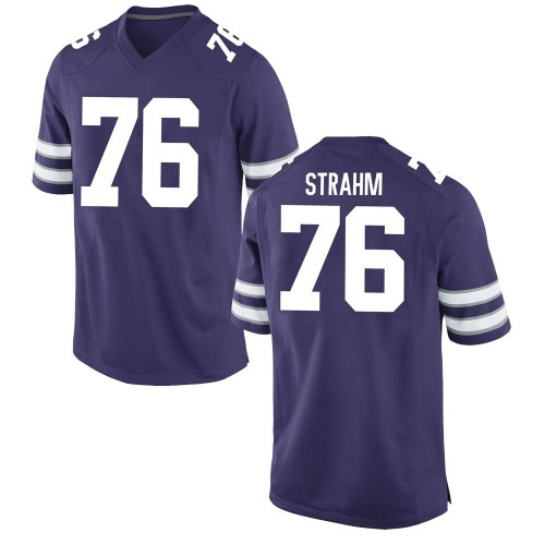 Youth Nike Elliott Strahm Kansas State Wildcats Replica Purple Football College Jersey
