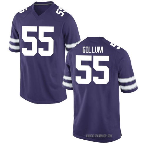 Youth Nike Hayden Gillum Kansas State Wildcats Game Purple Football College Jersey