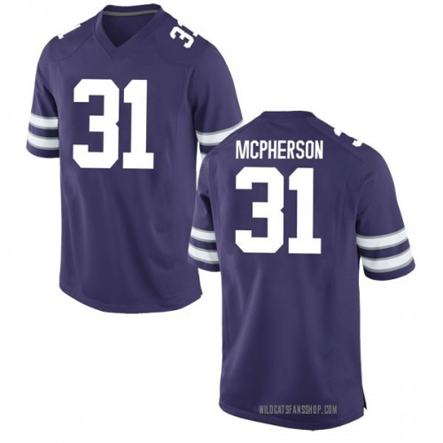 Youth Nike Jahron McPherson Kansas State Wildcats Game Purple Football College Jersey