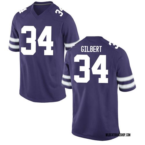 Youth Nike James Gilbert Kansas State Wildcats Game Purple Football College Jersey
