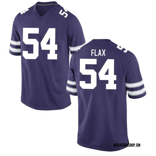 Youth Nike Joe Flax Kansas State Wildcats Game Purple Football College Jersey