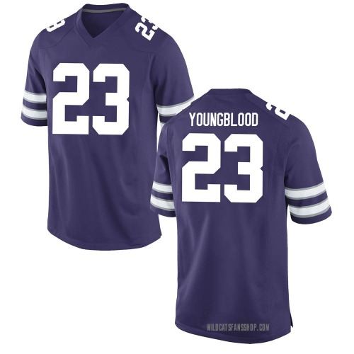 Youth Nike Joshua Youngblood Kansas State Wildcats Game Purple Football College Jersey