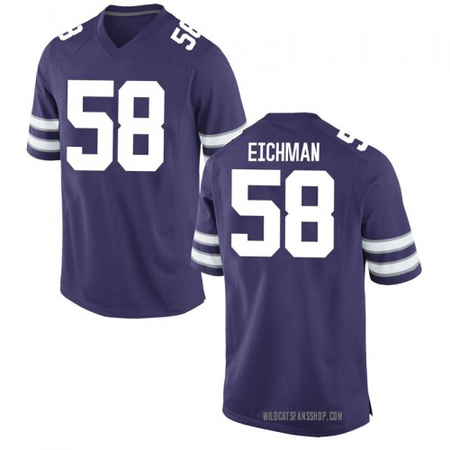 Youth Nike Justin Eichman Kansas State Wildcats Game Purple Football College Jersey