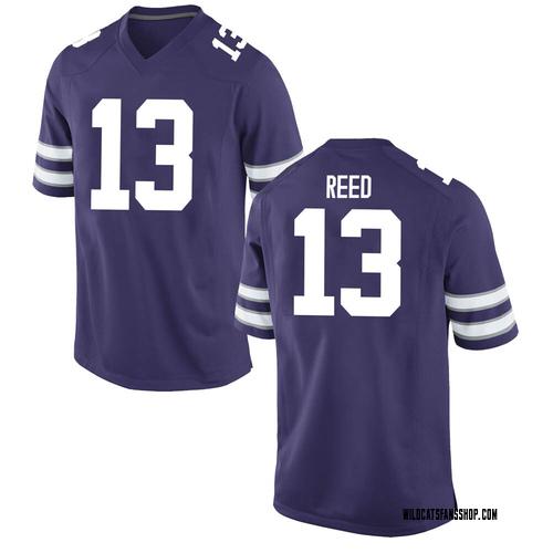 Youth Nike Kenyon Reed Kansas State Wildcats Game Purple Football College Jersey