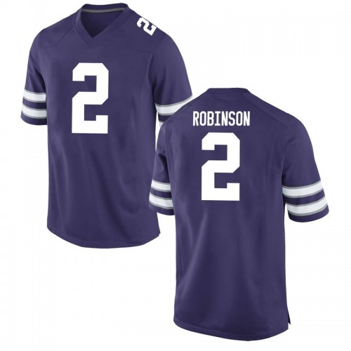 Youth Nike Lance Robinson Kansas State Wildcats Game Purple Football College Jersey