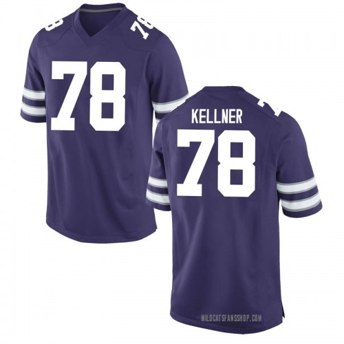 Youth Nike Marshall Kellner Kansas State Wildcats Game Purple Football College Jersey