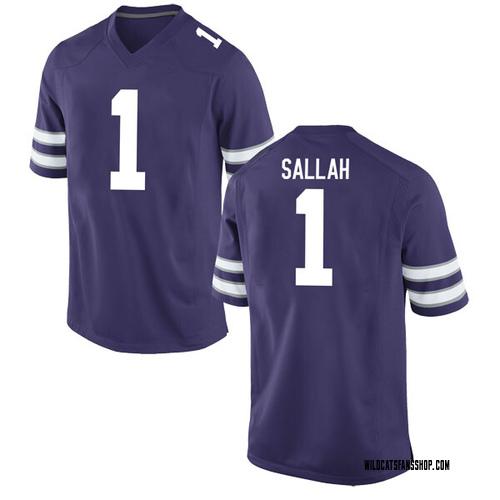 Youth Nike Mawdo Sallah Kansas State Wildcats Game Purple Football College Jersey