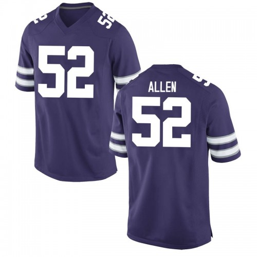 Youth Nike Nick Allen Kansas State Wildcats Game Purple Football College Jersey