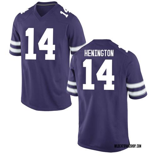 Youth Nike Ryan Henington Kansas State Wildcats Replica Purple Football College Jersey