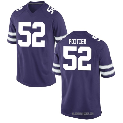 Youth Nike Taylor Poitier Kansas State Wildcats Game Purple Football College Jersey