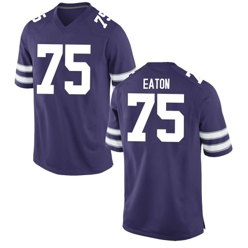 Youth Nike Tre Eaton Kansas State Wildcats Game Purple Football College Jersey