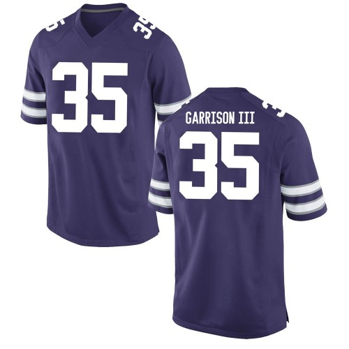 Youth Nike Willie Garrison III Kansas State Wildcats Replica Purple Football College Jersey