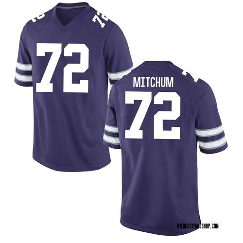 Youth Nike Witt Mitchum Kansas State Wildcats Game Purple Football College Jersey