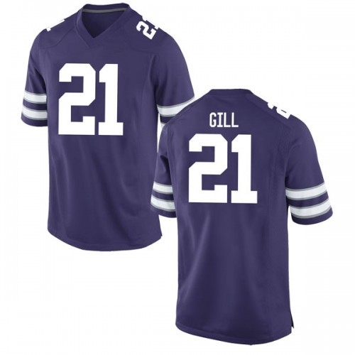 Youth Nike Wykeen Gill Kansas State Wildcats Game Purple Football College Jersey
