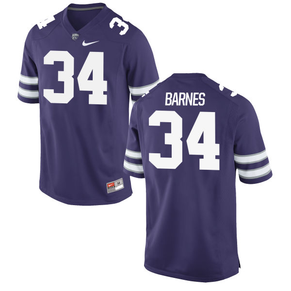 Men's Nike Alex Barnes Kansas State Wildcats Replica Purple Football Jersey