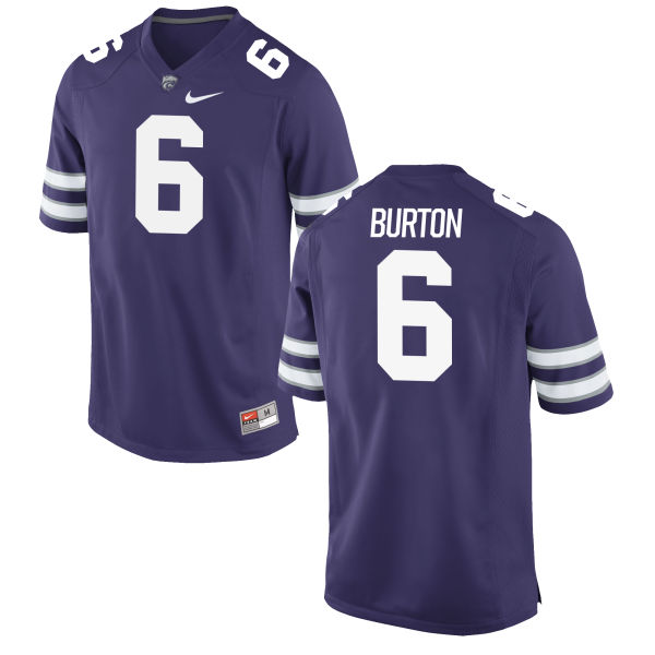 Men's Nike Deante Burton Kansas State Wildcats Game Purple Football Jersey