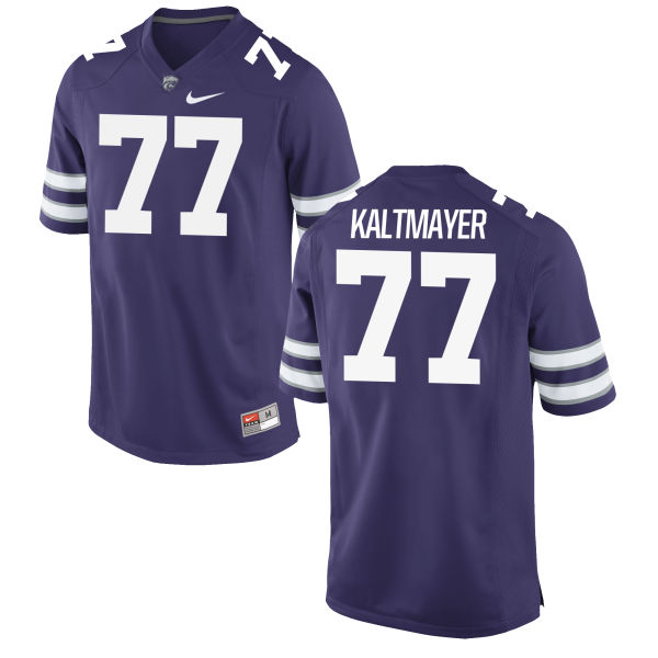 Men's Nike Nick Kaltmayer Kansas State Wildcats Game Purple Football Jersey