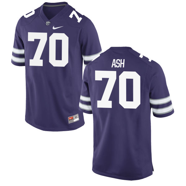 Men's Nike Will Ash Kansas State Wildcats Game Purple Football Jersey